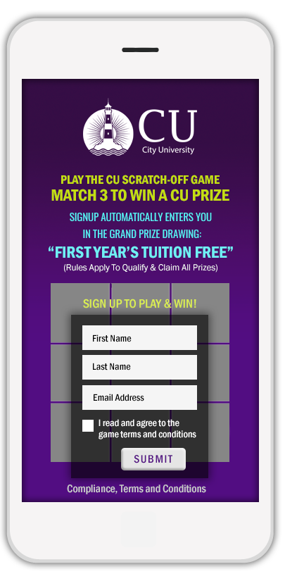 Scratch-Off campaign for free college tuition