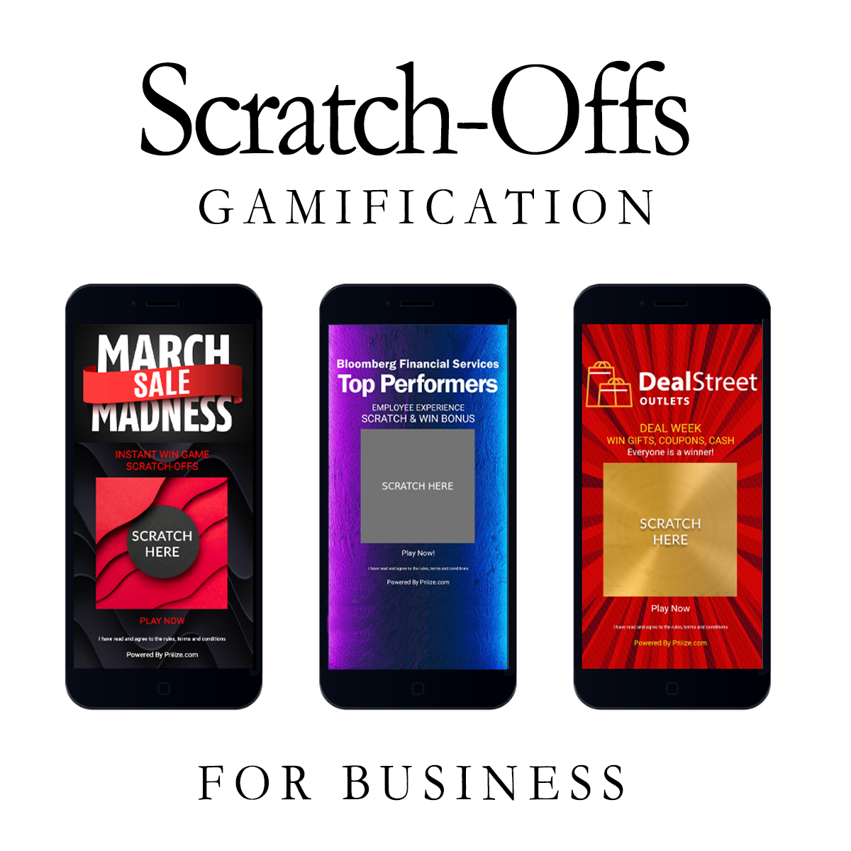 Scratch offs gamification inbusiness and HR